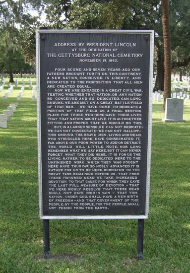 New Gettysburg Address Tablets For National Cemeteries To