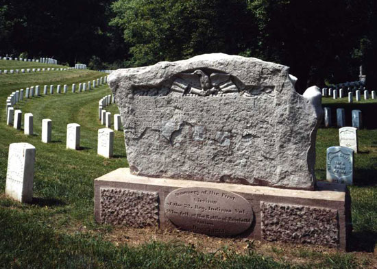 32nd Indiana Infantry Monument in Cave Hill National Cemetery