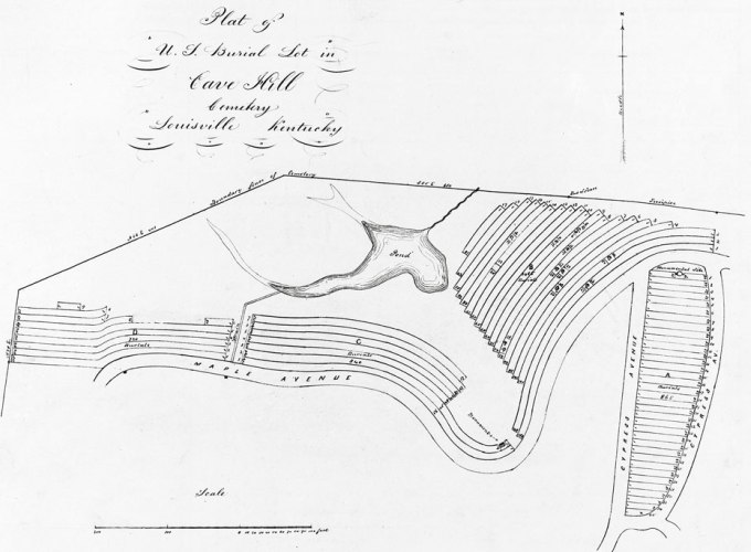 Drawing of Cave Hill National Cemetery