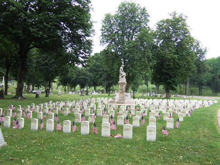 The Allegheny Cemetery Soldiers' Lot in Pittsburgh, Pa.