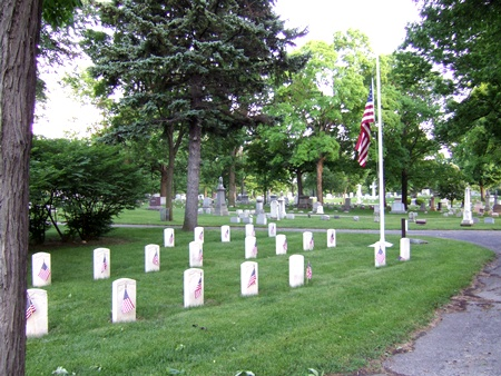 The Forest Home Cemetery Soldiers' Lot on Memorial Day.