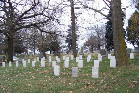 Burial area at the Forest Lawn Cemetery Soldiers' Lot.