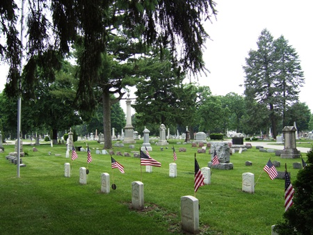 The Mound Cemetery Soldiers' Lot in Racine, Wis.