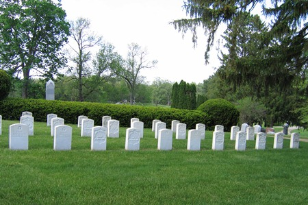 The Oakdale Cemetery Soldiers' Lot in Davenport, Iowa.