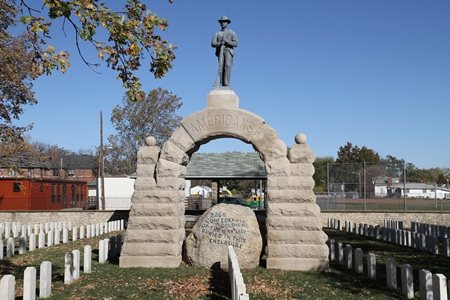 The Camp Chase Memorial Arch at Camp Chase Confederate Cemetery.