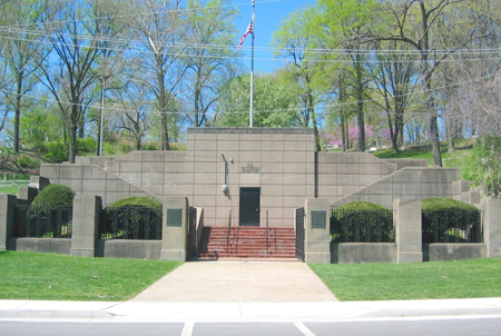 Front gate at Alton National Cemetery.