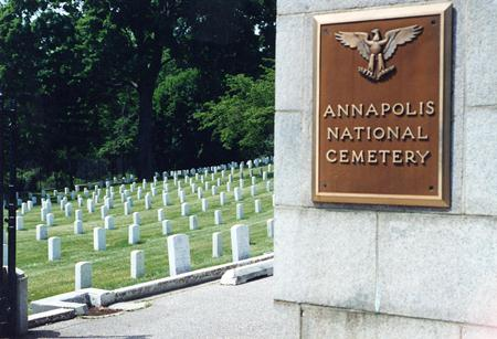 Main gate at Annapolis National Cemetery.