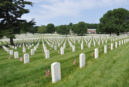 Burial area at Baltimore National Cemetery.