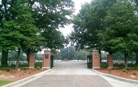 Entrance gate at Camp Butler National Cemetery.