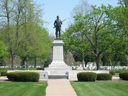 The Soldiers Monument at Danville National Cemetery.