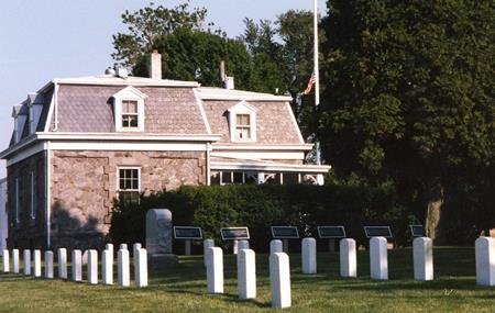 Superintendent's lodge at Finn's Point National Cemetery.