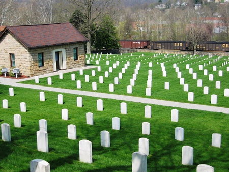 Burial area at Grafton National Cemetery.