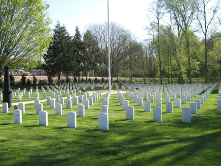 Burial area at Quincy National Cemetery.