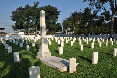 Burial area at Baton Rouge National Cemetery.