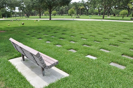 Burial area at Bay Pines National Cemetery.