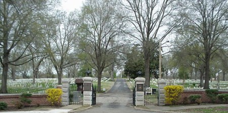 Entrance gate at Corinth National Cemetery.