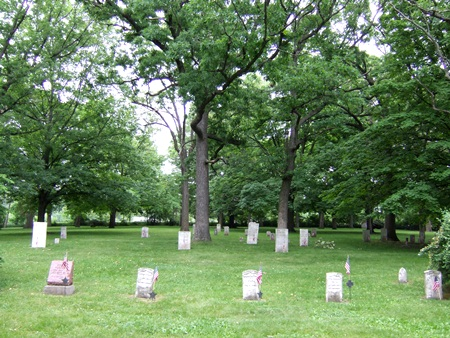 The Fort Winnebago Cemetery Soldiers' Lot in Portage, Wis.