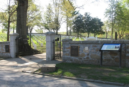 Danville National Cemetery main gate.