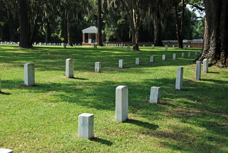 Historic burial area at Florence National Cemetery.