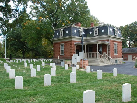 Superintendant's lodge at Glendale National Cemetery.