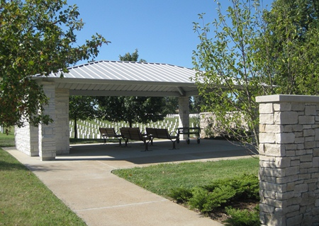 Jefferson Barracks National Cemetery committal shelter.