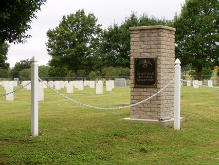 Entrance gate at Kerrville National Cemetery.