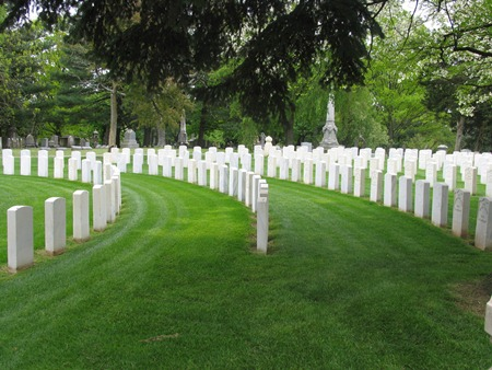 Circular burial area at Lebanon National Cemetery.