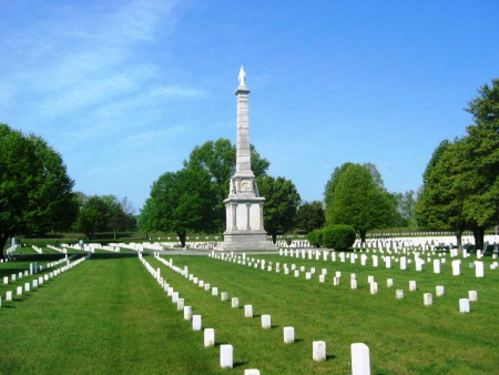 The Illinois State Soldiers and Sailors Monument at Mound City National Cemetery.
