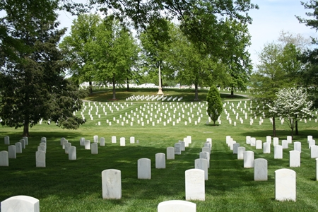 Burial section at Mountain Home National Cemetery.
