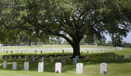 Burial area at Natchez National Cemetery.