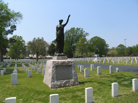 Rhode Island Monument at New Bern National Cemetery.