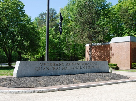 Front gate at Quantico National Cemetery.