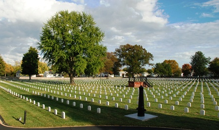 Burial area at Richmond National Cemetery.