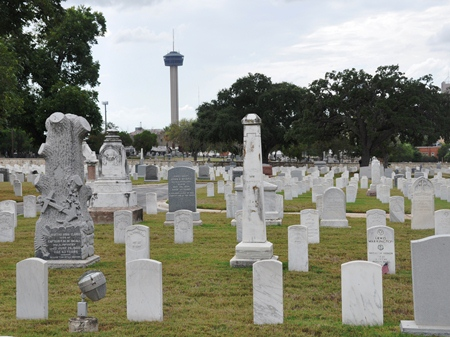 Burial area at San Antonio National Cemetery.