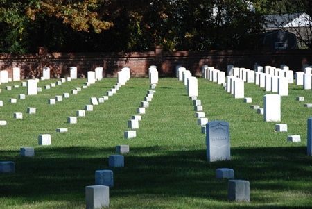 Burial area at Seven Pines National Cemetery.