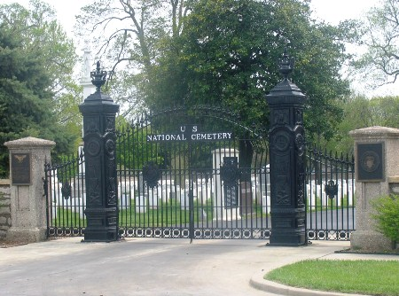 Springfield National Cemetery main gate.