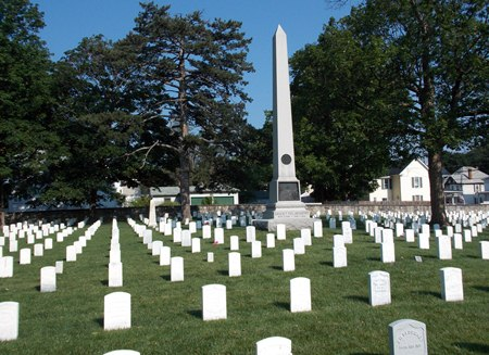 The 114th New York Volunteer Infantry Monument at Winchester National Cemetery.