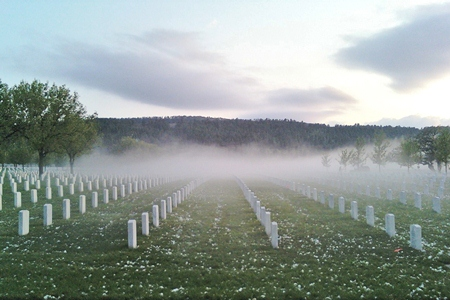 After a storm at Black Hills National Cemetery.