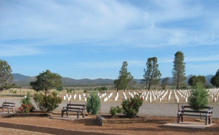 Burial section at Fort Bayard National Cemetery.