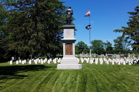 A view of the Albany Rural Cemetery Soldiers' Lot.