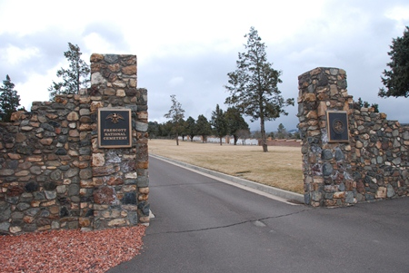 Entrance gate at Prescott National Cemetery.