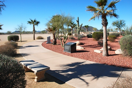 Memorial walkway at the National Memorial Cemetery of Arizona.