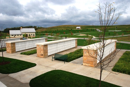 Columbaria at the National Cemetery of the Alleghenies.
