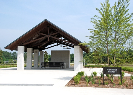 Committal shelter at Jacksonville National Cemetery.