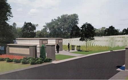 Artist concept image for Fargo National Cemetery.