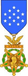 The 1904 design for the Medal of Honor, known as the 'Gillespie' medal.
