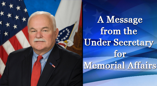 Picture of Mr. Randy Reeves and text reading: Message from the Under Secretary for Memorial Affairs.