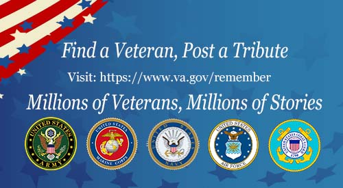Image of Veterans Legacy Memorial (VLM), the country's first digital platform dedicated entirely to the preservation of the memory of the 3.7 million Veterans interred in VA national cemeteries.