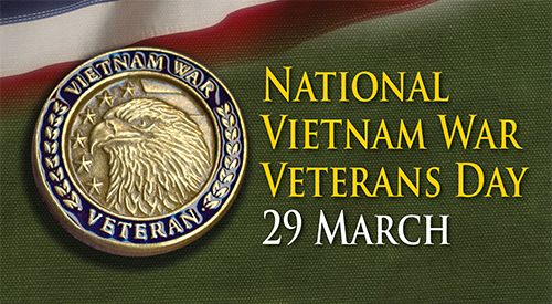 Image with Vietnam Veteran coin and text.
