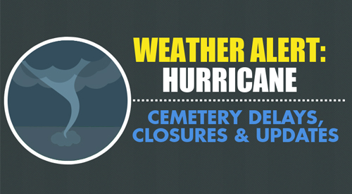 Several VA national cemeteries are closed due to the extreme weather conditions of Hurricane Florence.